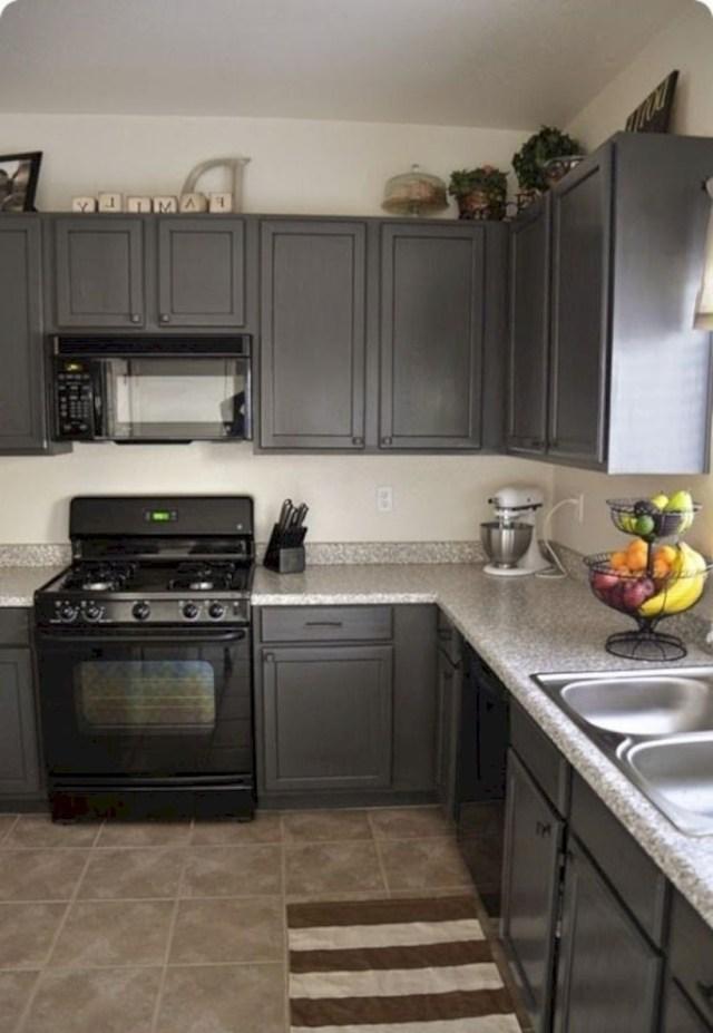 15 Grey Kitchen Cabinet Makeover Ideas - GODIYGO.COM