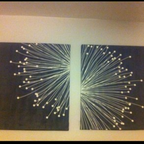 Make your own string art that look artsy for your space 34
