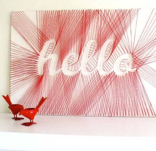 Make your own string art that look artsy for your space 42