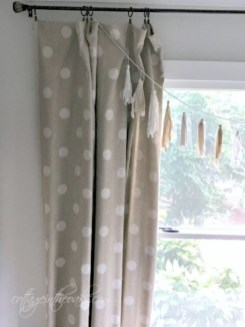 On a budget make your own curtain 19