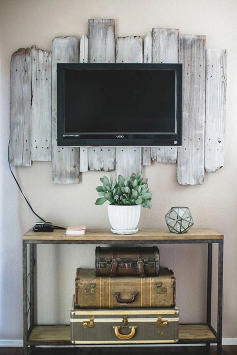 Simple diy rustic home decor for tv place