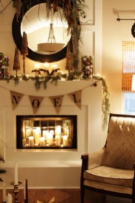 Ways to decorate fireplace for christmas 02