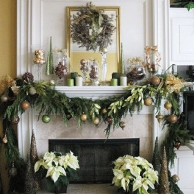 Ways to decorate fireplace for christmas 03