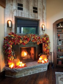 Ways to decorate fireplace for christmas 04
