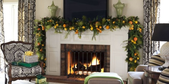 Ways to decorate fireplace for christmas 21