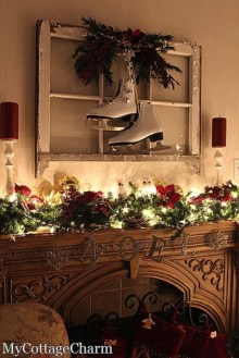Ways to decorate fireplace for christmas 34