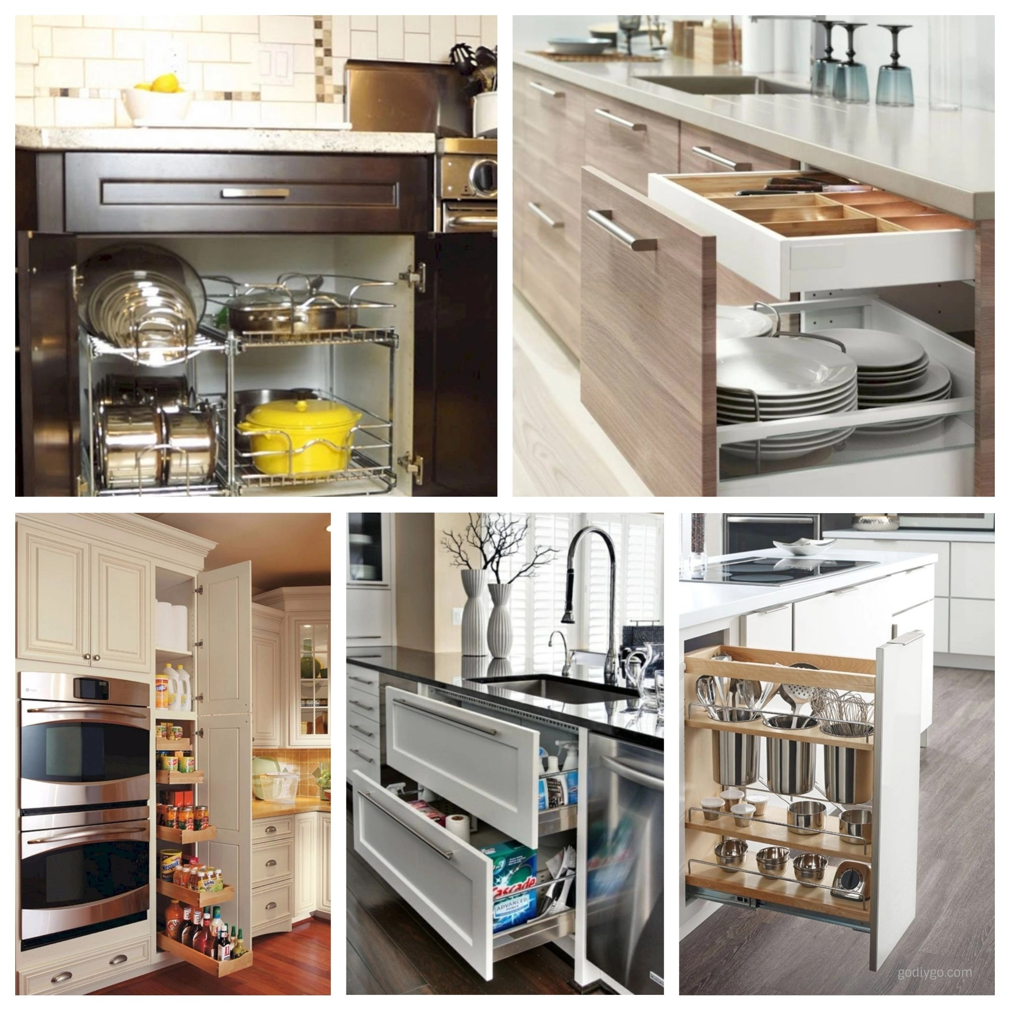 44 smart kitchen cabinet organization ideas  godiygo