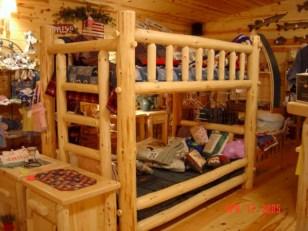 Creative log cabin themed bedroom for kids 07