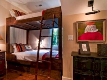 Creative log cabin themed bedroom for kids 19