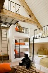 Creative log cabin themed bedroom for kids 25