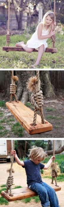 Diy outdoor swing ideas for your garden 04