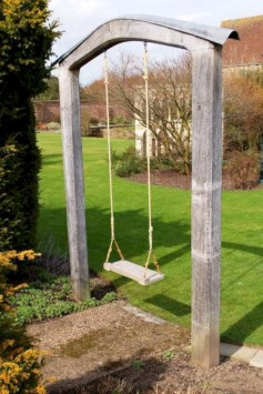 Diy outdoor swing ideas for your garden 12