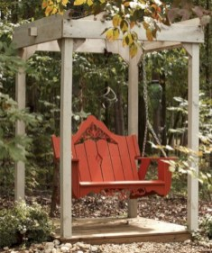Diy outdoor swing ideas for your garden 14