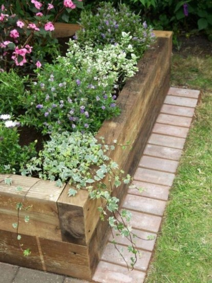 Easy to make diy raised garden beds ideas 28