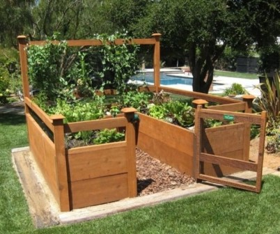 Easy to make diy raised garden beds ideas 31