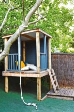 Fabulous backyard playhouse to delight your kids 34