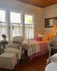 Vintage attic bedroom with wall of skylights51