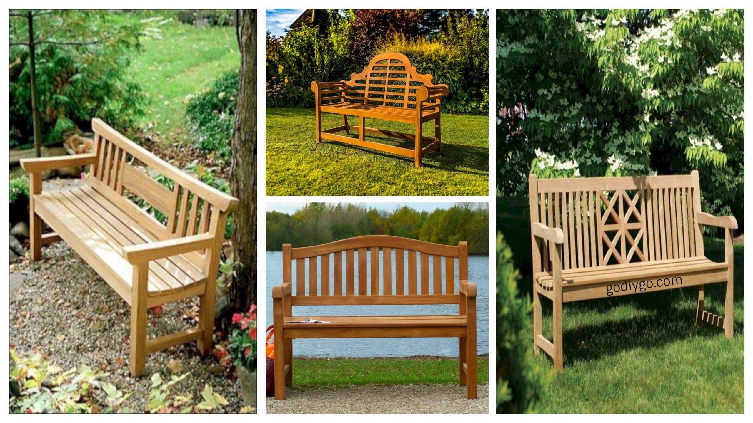Wonderful 41 Teak Garden Benches Ideas For Your Outdoor