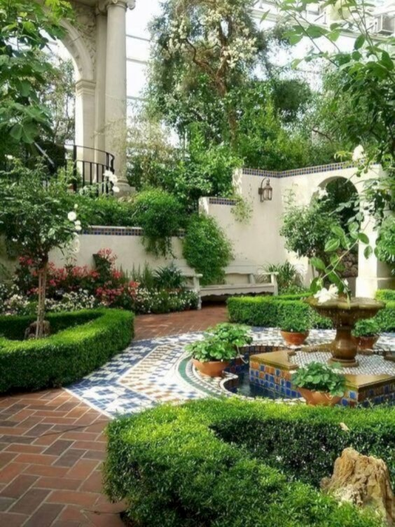 Beautiful courtyard garden design ideas 10