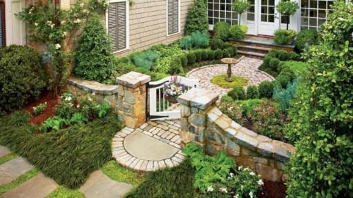 Beautiful courtyard garden design ideas 15