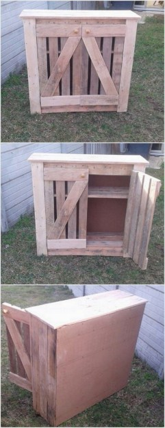 Best diy projects with pallet for your garden 07