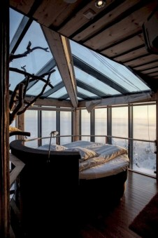 Best glass ceiling design ideas to enjoy the night sky 28