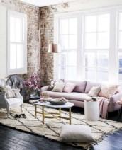 Boho rustic glam living room design ideas 10