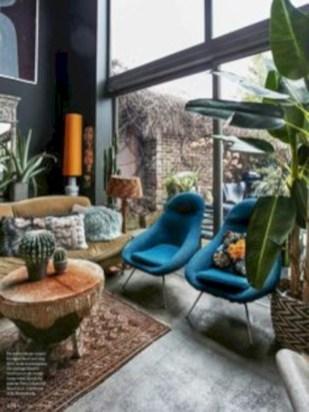Boho rustic glam living room design ideas 18