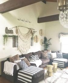 Boho rustic glam living room design ideas 19