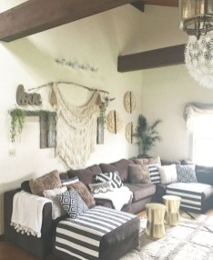 Boho rustic glam living room design ideas 19