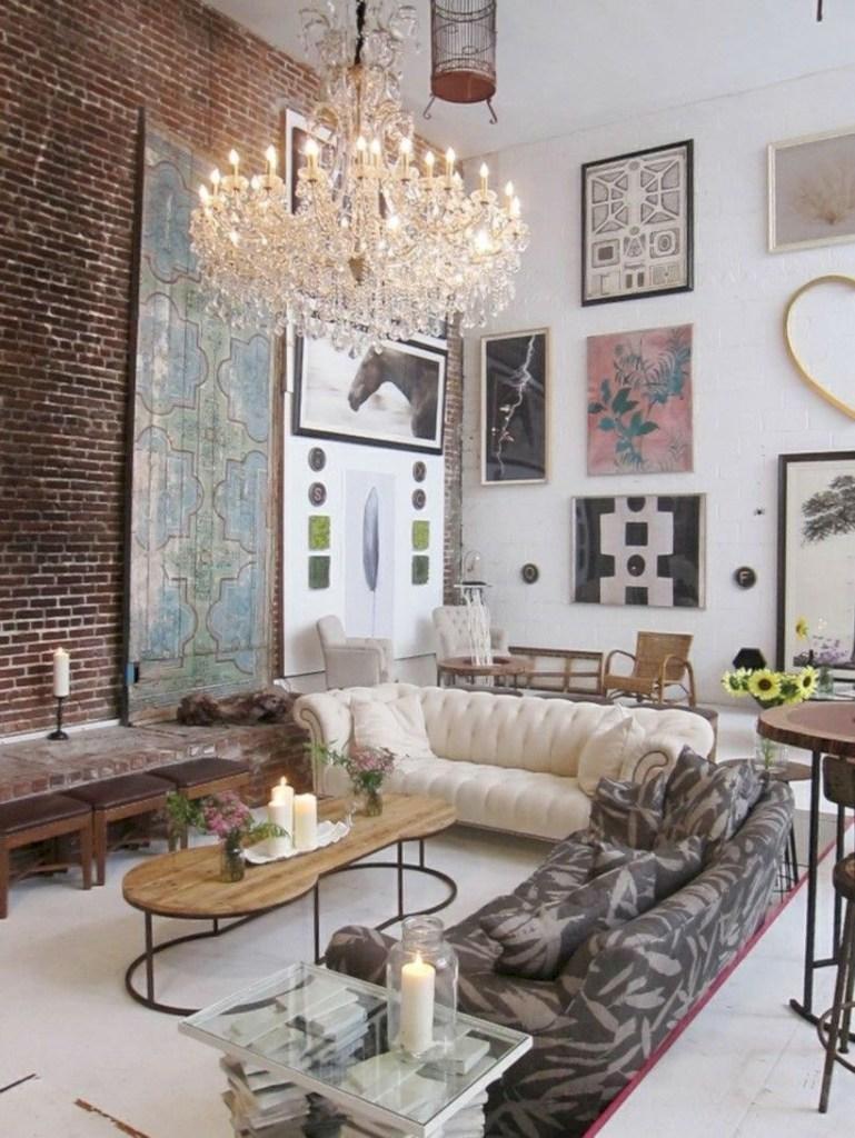 36 Boho Rustic Glam Living Room Design Ideas  GODIYGO.COM