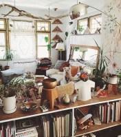 Boho rustic glam living room design ideas 35