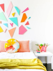 Bright ideas for diy decor with bright color 16