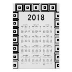 Modern wall calendars to get you organized for 2018 01