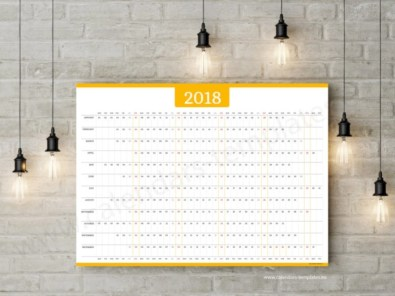 Modern wall calendars to get you organized for 2018 06