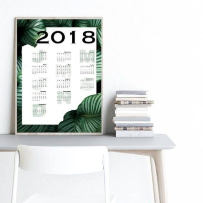 Modern wall calendars to get you organized for 2018 13