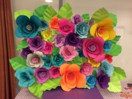 Simple and easy diy tissue paper flower garland 17