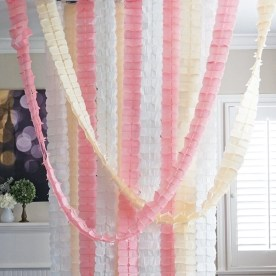 Simple and easy diy tissue paper flower garland 22