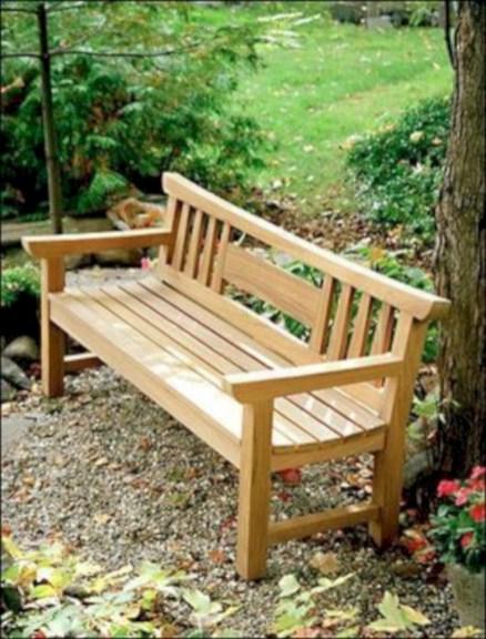 Teak garden benches ideas for your outdoor 06