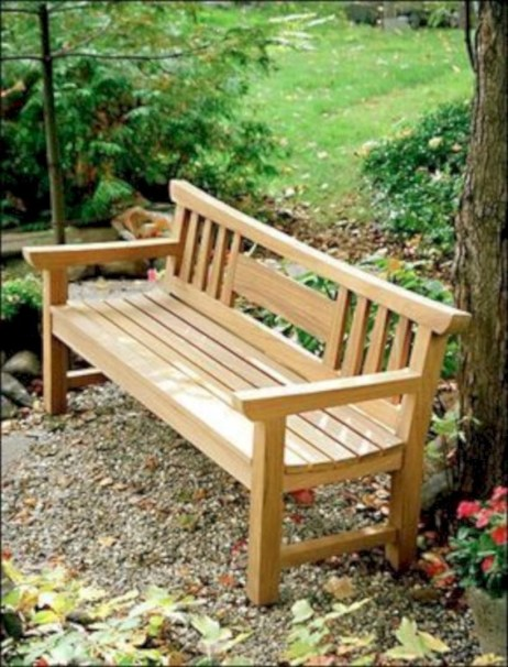 Teak garden benches ideas for your outdoor 06