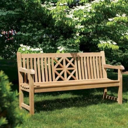 Teak garden benches ideas for your outdoor 17