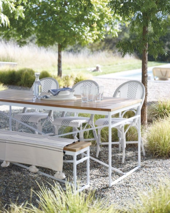 Teak garden benches ideas for your outdoor 21
