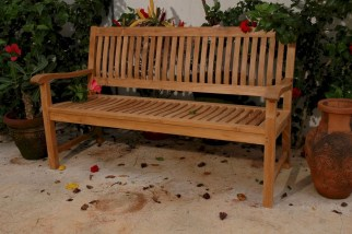Teak garden benches ideas for your outdoor 24