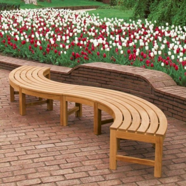 Teak garden benches ideas for your outdoor 30