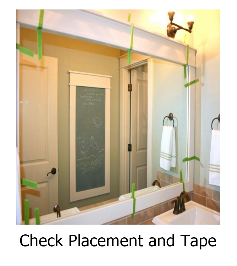 Check Placement and Tape