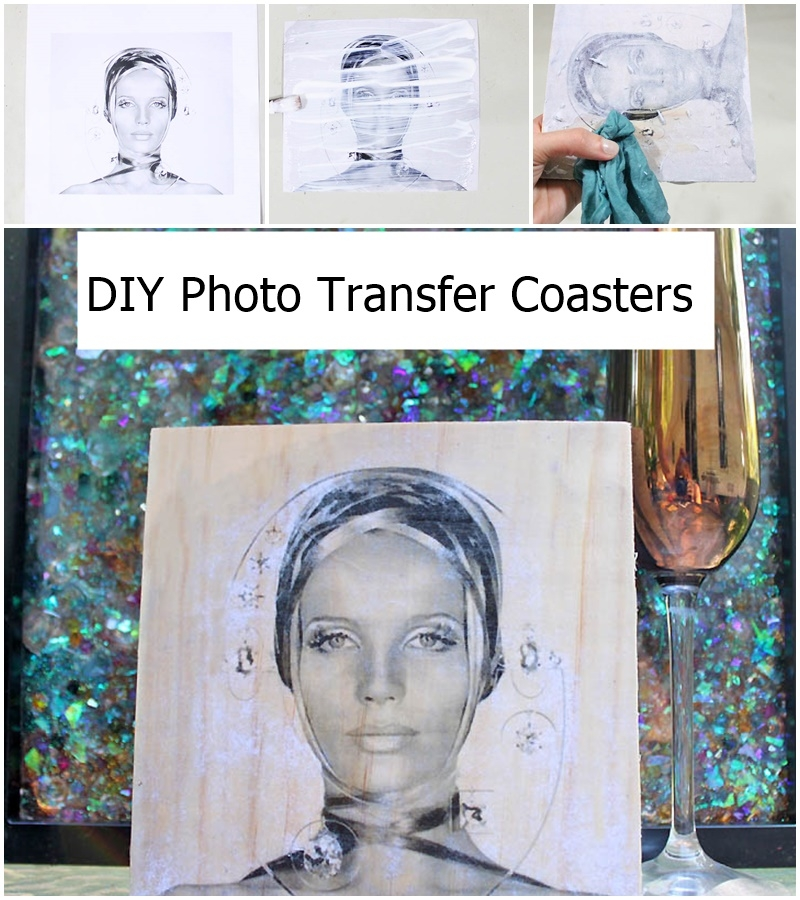 DIY Photo Transfer Coasters