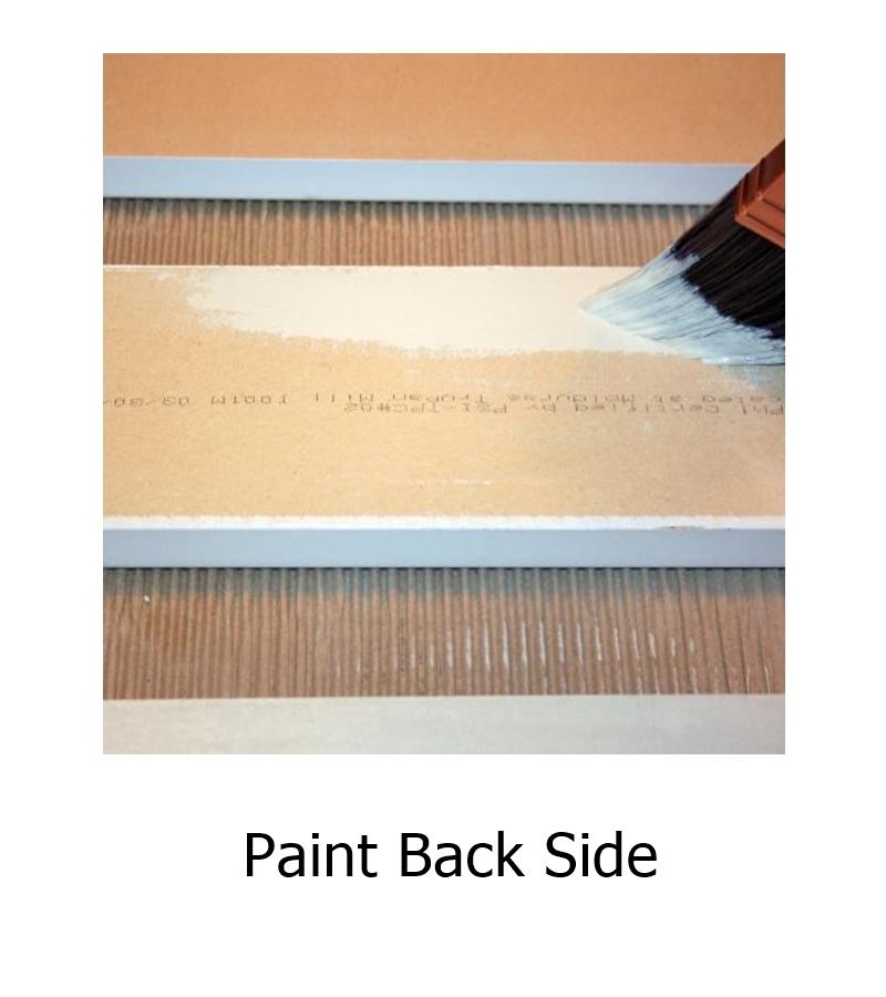 Paint back sides