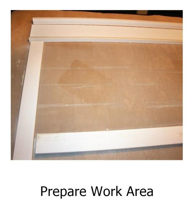 Prepare work area