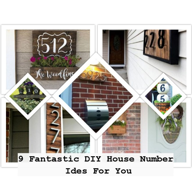 9 fantastic diy house number ides for you