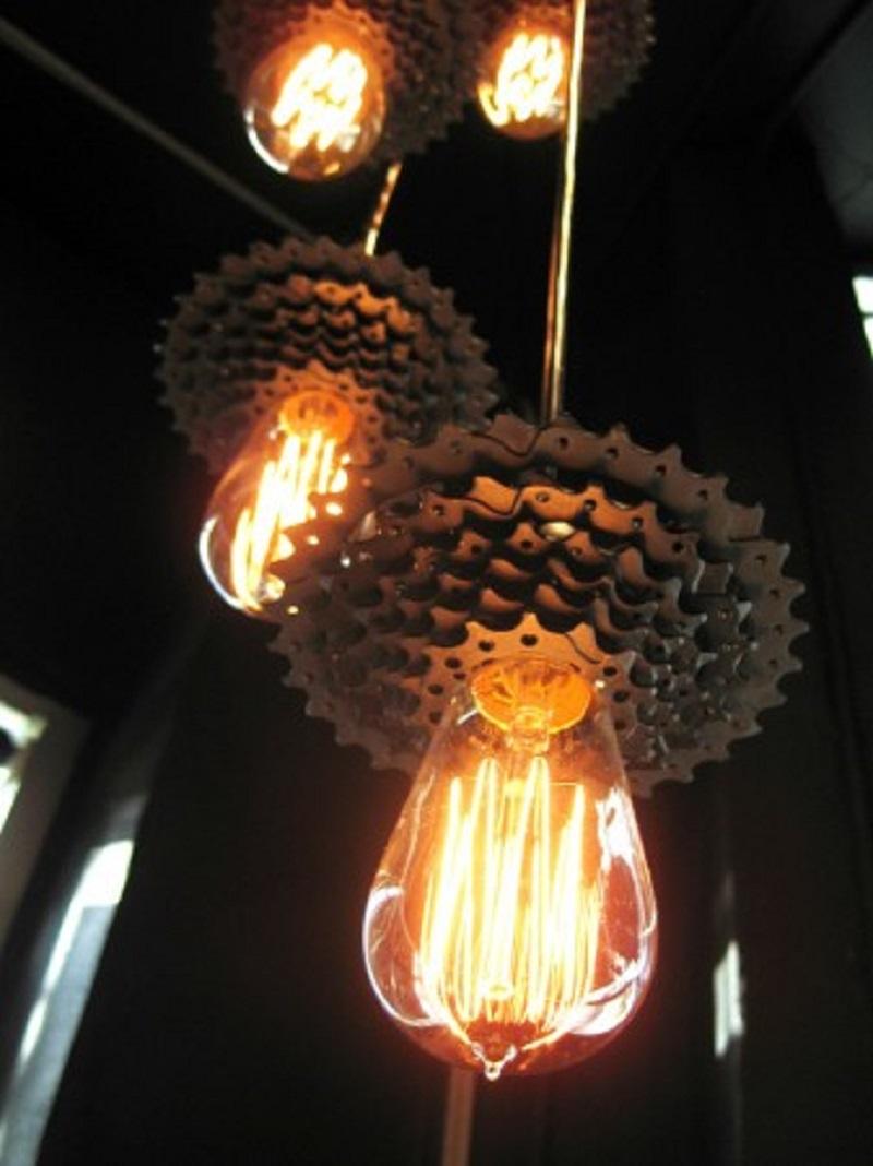 Bike-sprocket-light-pendants